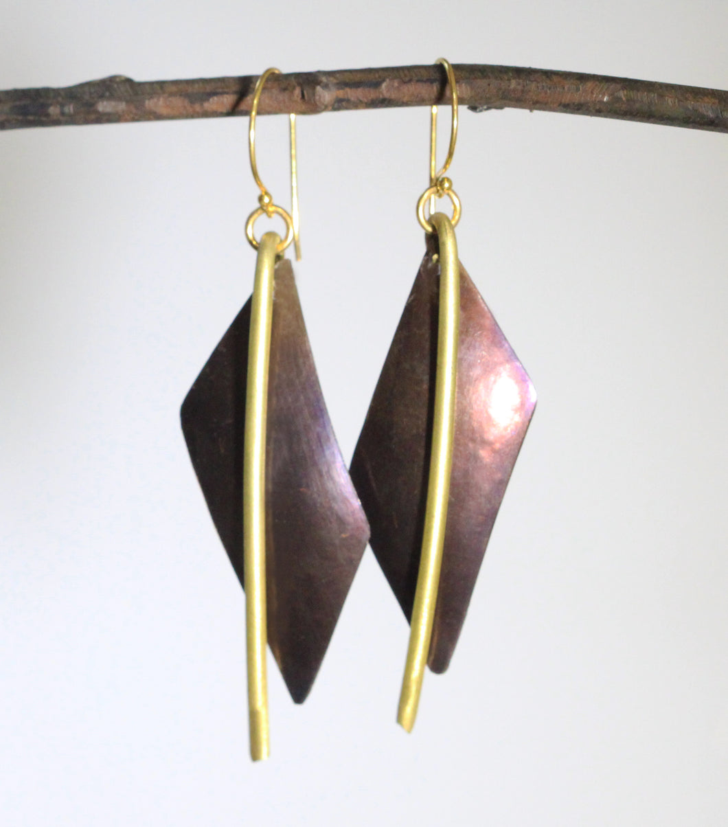 Vertical Drop Earrings - Dennis Higgins Jewelry