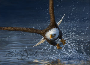 American Bald Eagle Painting by Larry Zach