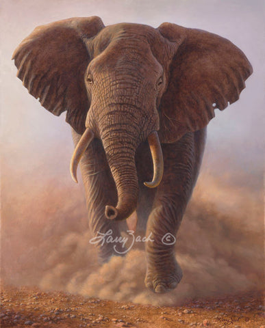 Charging Bull — African Elephant