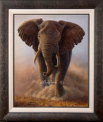 Limited Edition Master Canvas, Framing A1 -and- Classic Canvas, Framing S (charcoal burled wood)