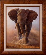 Limited Edition Master Canvas, Framing X -and- Classic Canvas, Framing B1 (brown burled wood)
