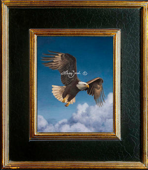 Black Crackle Gold Frame