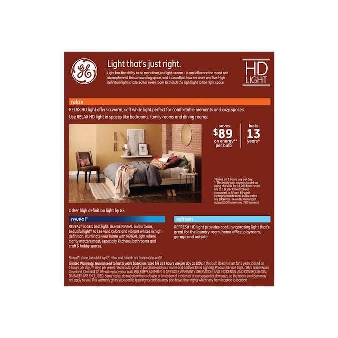 GE LED Vintage 60-Watt EQ ST19 Soft White Dimmable Decorative Light Bulb 93117616 (2-pack) - 714 packs/pallet