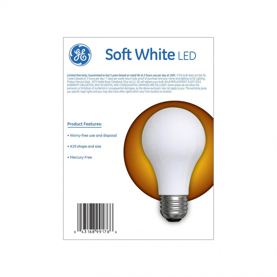 GE 40W Replacement Soft White LED Light Bulb General Purpose 38281 (4-pack) - 560 packs/pallet