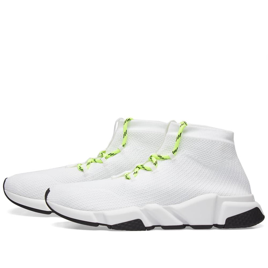 Balenciaga Lace-Up Speed Runner in White