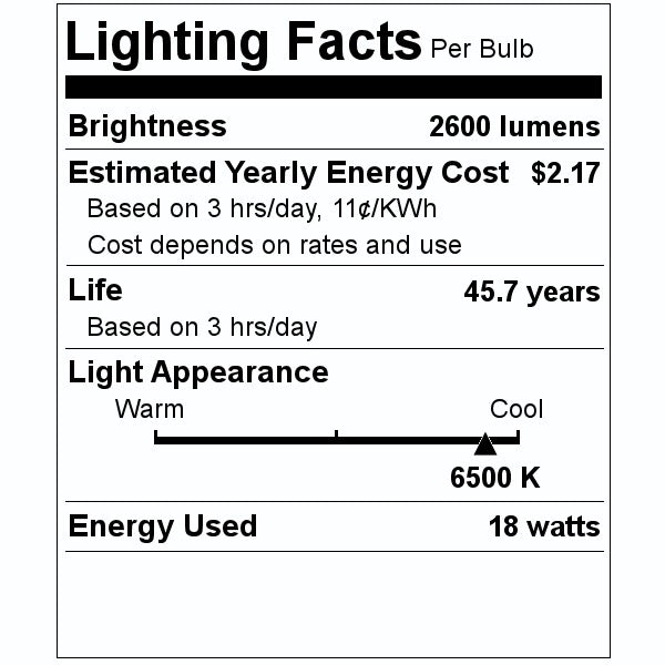 GE LED Light Bulb LED18ET8/G/4/865 GELamps 35773 (20-pack) - 35 cases/pallet
