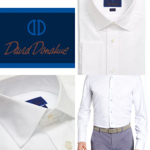 Men's David Donahue White Dress Shirts