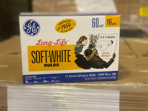 GE Long Life Soft White Light Bulbs 33736 (16-pack) - 189 packs/pallet