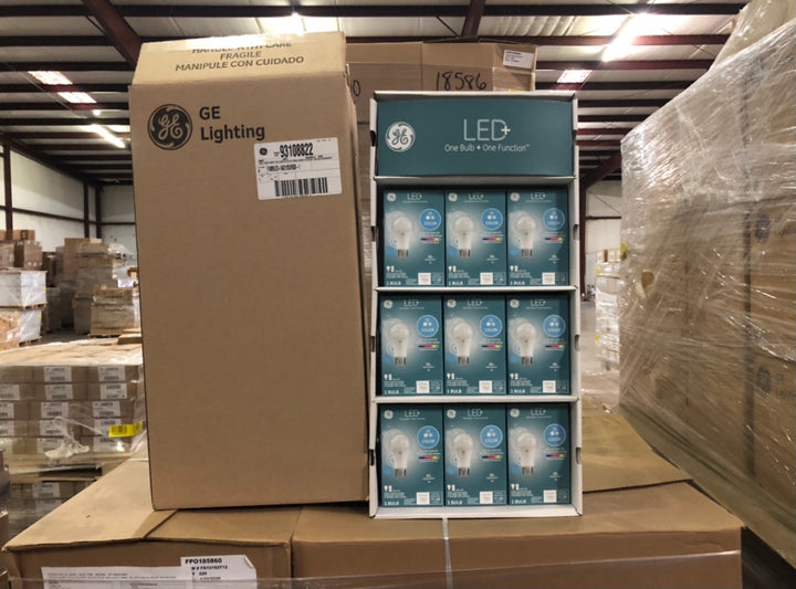GE LED + 60 Watt EQ A19 Full Spectrum Dimmable LED Light Bulb 93108822 (1-pack) - 189 packs/pallet