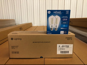 GE Refresh LED 60-Watt EQ ST19 Daylight Dimmable Edison Light Bulb 93117535 (2-pack)- 714 packs/pallet