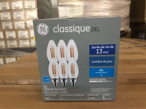 GE Classic LED Day Light 5-Watt Light Bulb 93128881 (6-pack) - 504 packs/pallet