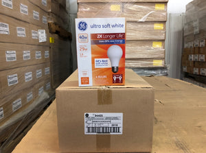 GE Energy-Efficient Soft White 29W A19 94405 (4-pack) - 864 packs/pallet