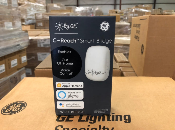 C by GE C-Reach Smart Bridge to Enable Voice and Out-of-Home Control with Amazon Alexa, Google Home and Apple HomeKit, Creates Smart Bulbs that Work with Alexa and Google Home 93103864 (1-pack) - 1,728 packs/pallet