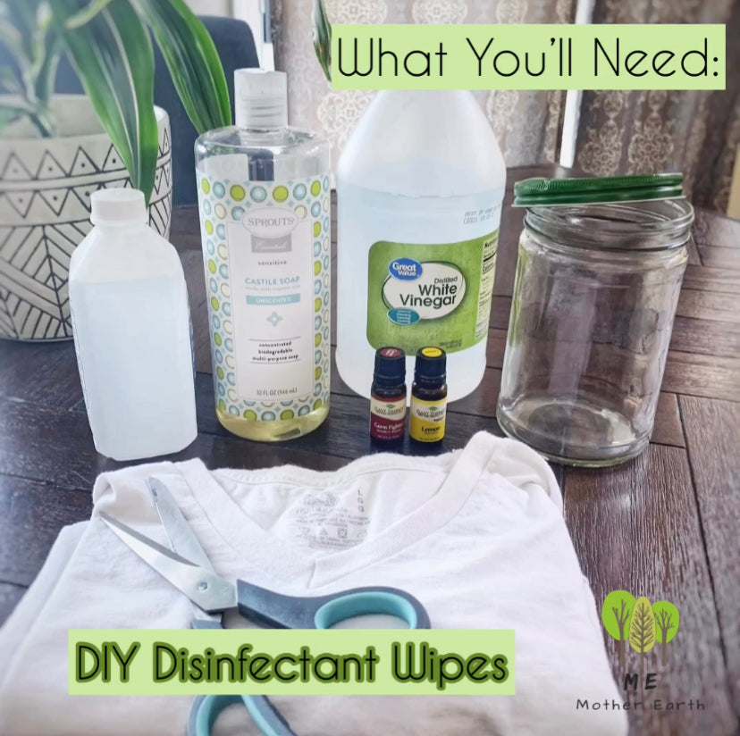Zero Waste- DIY Disinfectant Wipes