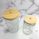 Imperfect Solid Bamboo Mason Jar Lids