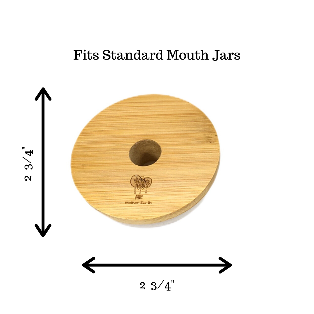 Imperfect Bamboo Mason Jar Lids