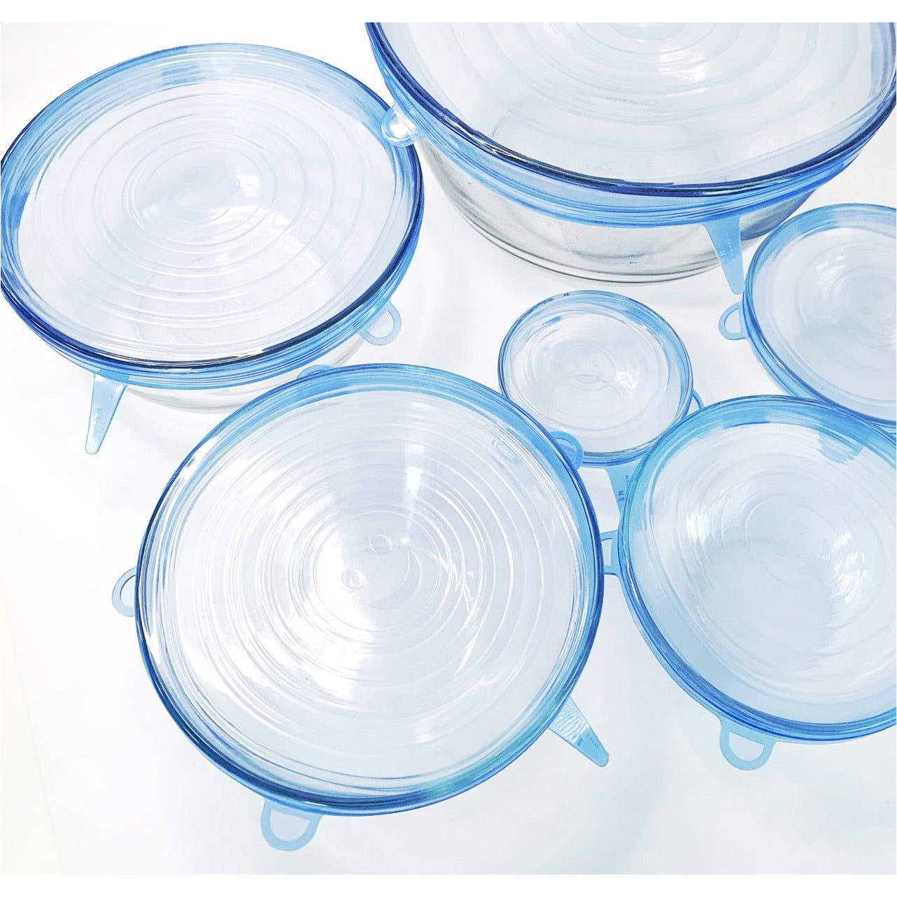 Silicone Food and Bowl Covers- 6 Pack