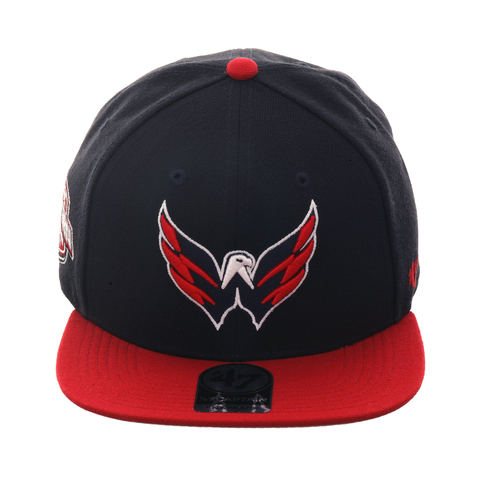 47 Brand Washington Capitals Sureshot Snapback Hat - 2T Navy, Red