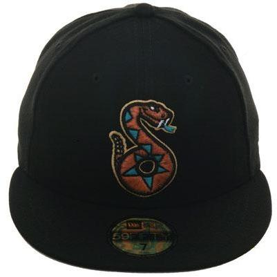 Exclusive New Era 59Fifty Tucson Sidewinders Hat - Black