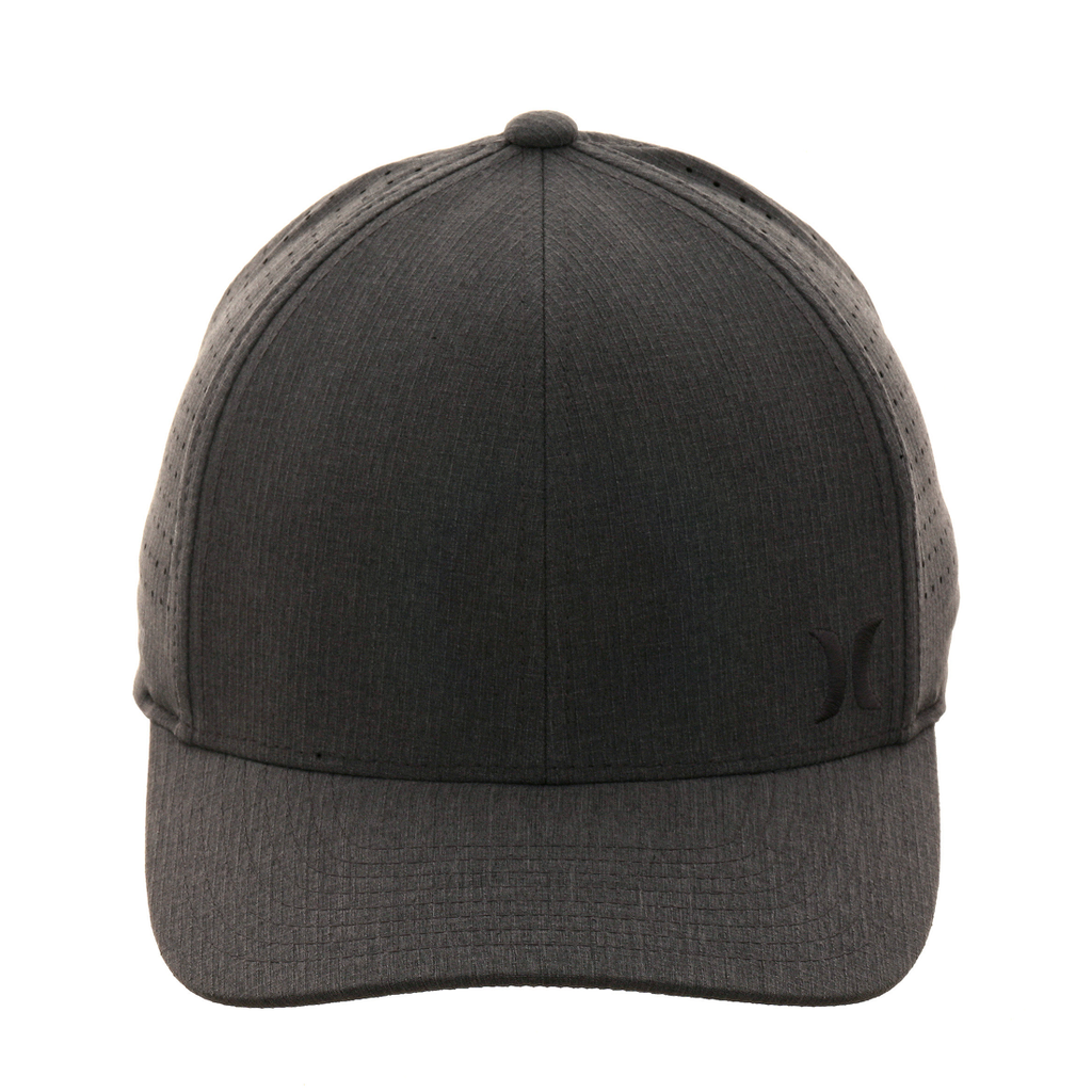 factory authentic ee473 eba44 ... low cost hurley phantom ripstop flexfit hat heather black 9903f 44521