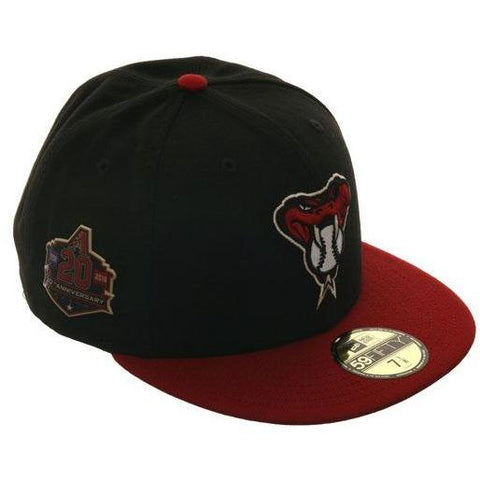 New Era Authentic Collection Arizona Diamondbacks 20th Anniversary Patch On-Field Alternate 2 Fitted Hat