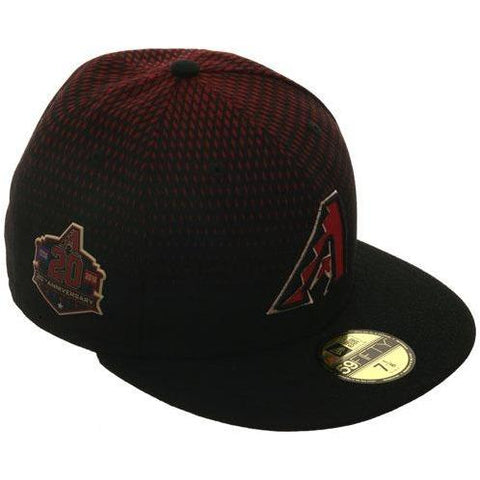 New Era Authentic Collection Arizona Diamondbacks 20th Anniversary Patch On-Field Game Fitted Hat