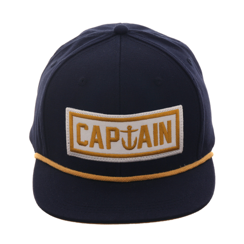 Captain Fin Naval Captain Snapback Hat - Navy , Gold , White