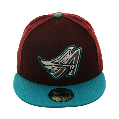 Exclusive New Era 59Fifty Anaheim Angels 1997 Hat - 2T Maroon, Teal