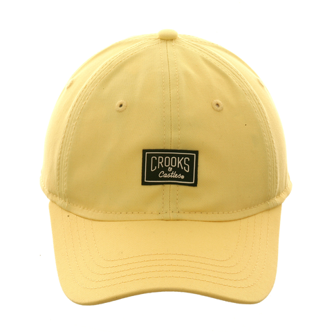 Crooks & Castles Core Logo Dad Hat - Yellow