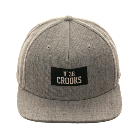 Crooks & Castles NO 38 Snapback Hat - Heather Gray