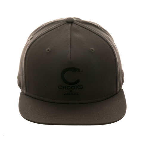 Crooks & Casles Crooks Snake Snapback Hat - Charcoal , Black