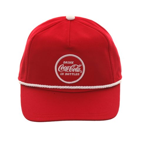 American Needle Cappy Coca Cola Snapback Hat - Red, White