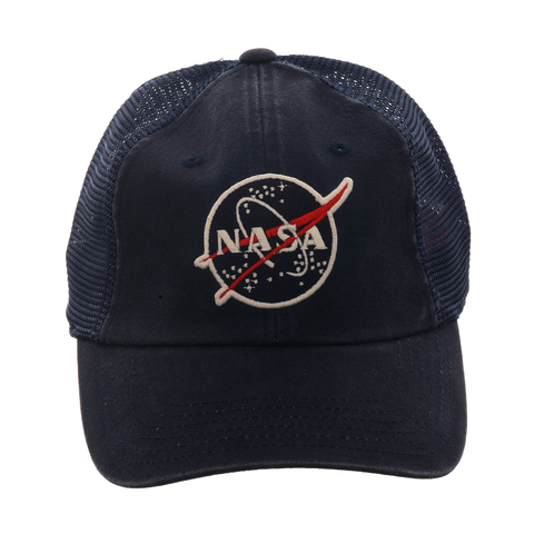 American Needle Raglan Bones NASA Trucker Dad Hat - Navy