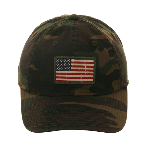 American Needle American Flage Badge  Dad Hat - Camouflage