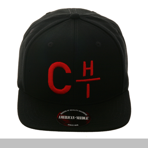 American Needle Divided Chi Snapback Hat - Black, Red