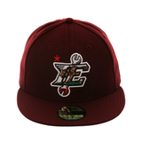 Exclusive New Era 59Fifty 66ers California Flag Hat - Maroon