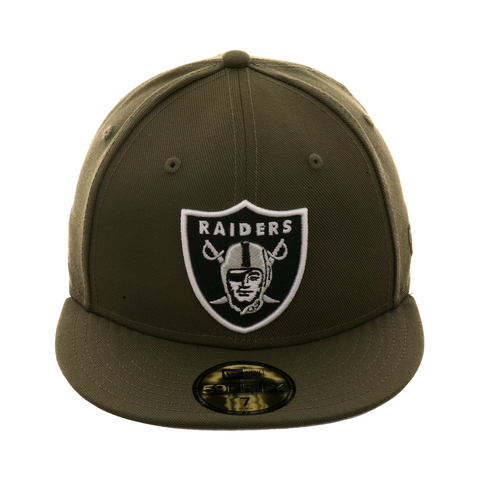 Exclusive New Era 59Fifty Oakland Raiders Hat - Olive