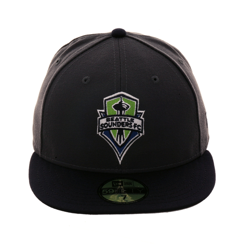 Exclusive New Era 59Fifty Seattle Sounders Hat - 2T Graphite, Navy