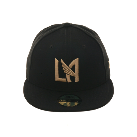 Exclusive New Era 59Fifty LAFC Hat - Black , Metallic Gold