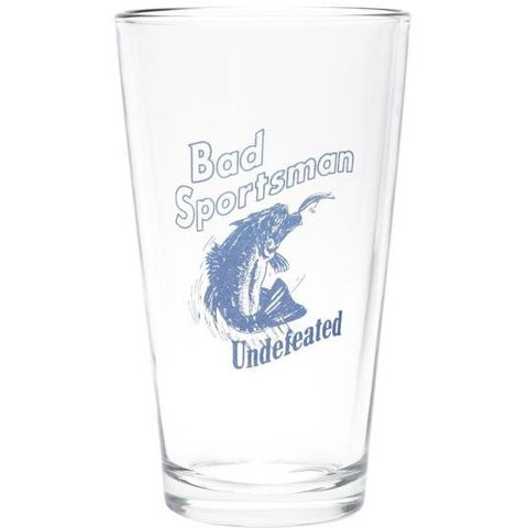 Undefeated Bad Sports Pint Glass