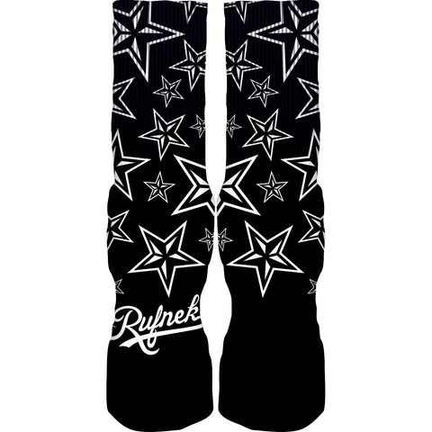 Rufnek Hardware Custom General Black and White Socks