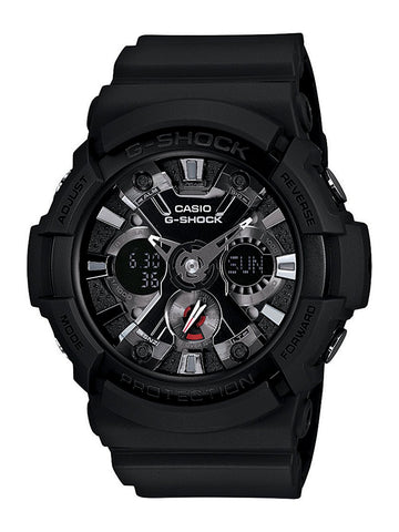 Casio Men's GA201-1 G-Shock Shock Resistant Sport Watch With Black Resin Band