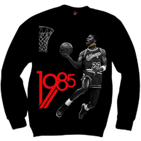 The Fresh I Am Clothing 1985 Bred Black and Red Crewneck