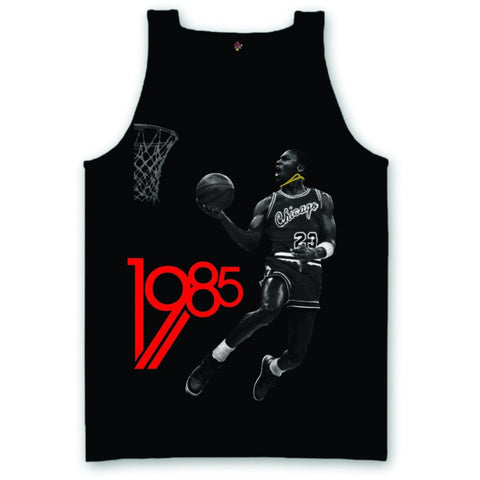 The Fresh I Am Clothing 1985 Bred Black Tank Top
