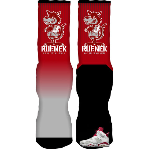 Rufnek Hardware No Sheep Alternate 6s Socks