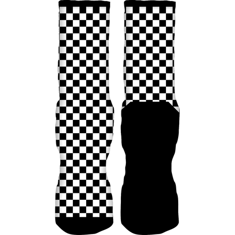 Rufnek Hardware Checkers Alternate Motorsport 4s Socks