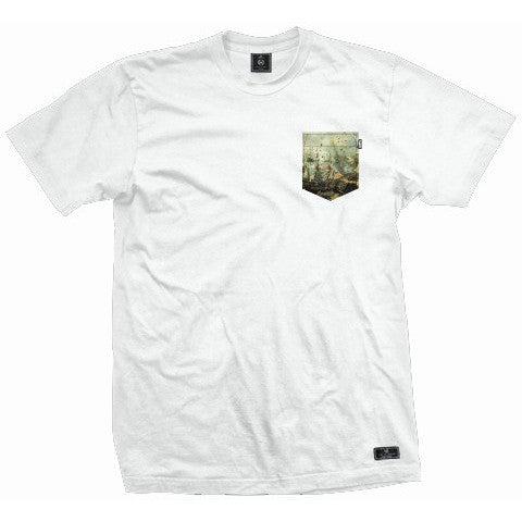 Acropolis Armada White Pocket Tee
