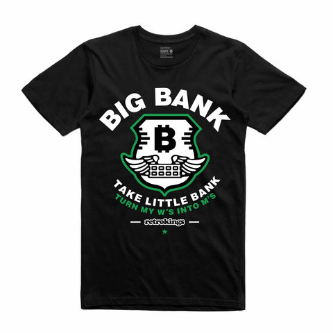Retro Kings Clothing Big Bank Pine Green 1s Tee