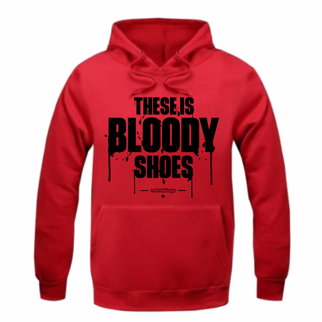 66052c4bfaf Retro Kings Clothing Bloody Shoes Gym Red 12s Hoodie – Exquisite Streetwear  Shop