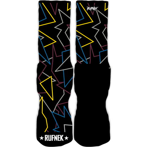 Rufnek Hardware Neon Bordeaux 7's Socks